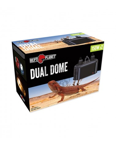 Oprawa podwójna do terrarium Dual Dome REPTI PLANET